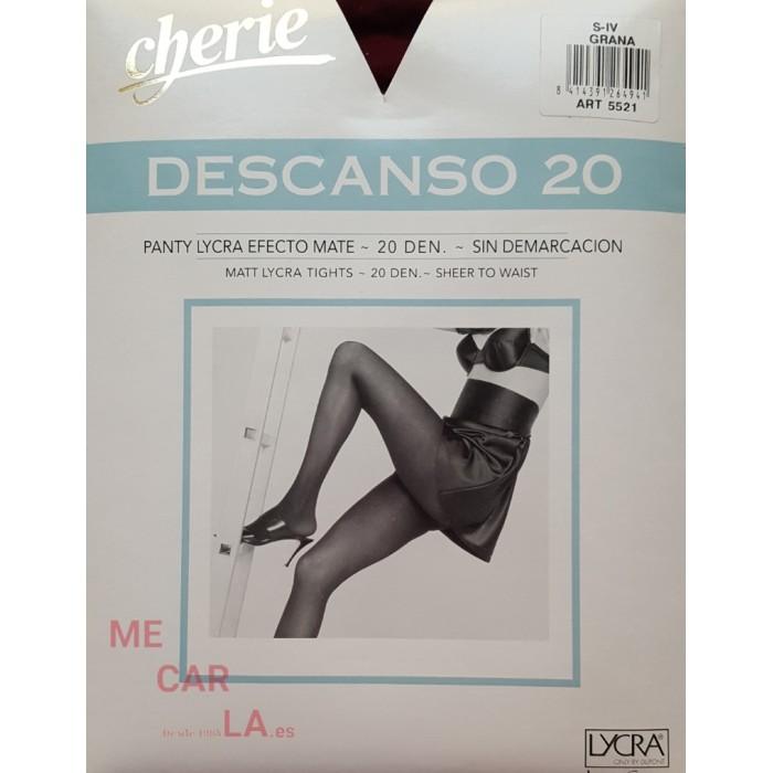 PANTY DESCANSO EFECTO MATE SIN DEMARCACIÓN 20 DEN CHERIE