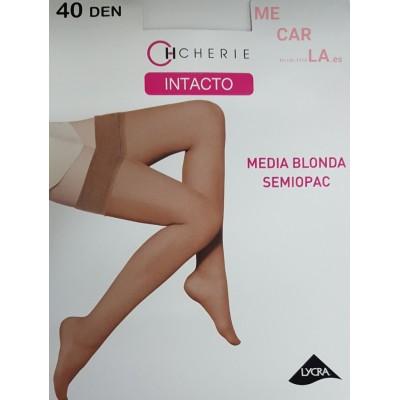 MEDIA SEMIOPAC CON BLONDA SILICONADA 40 DEN. DE CHERIE