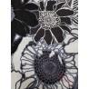 Tela de hilo estampado flores