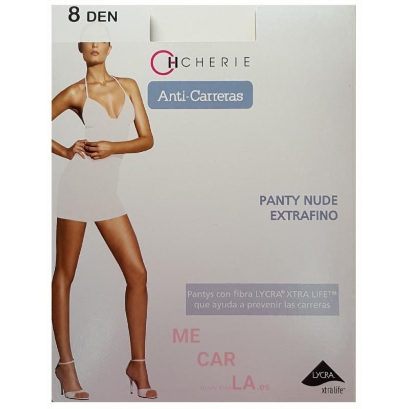 PACK COMBINA 3 PANTYS CHERIE 5810 PANTY NUDE EXTRAFINO ANTI CARRERAS