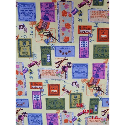 TELA DE PATCHWORK ESTAMPADO COSTURA