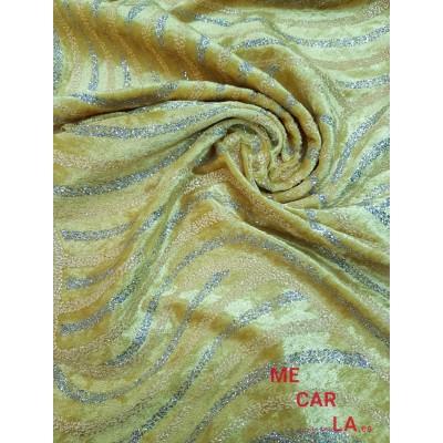 Terciopelo Amarillo Estampado Lurex 150 cm