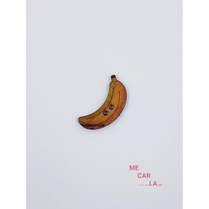 Botón de madera Plátano