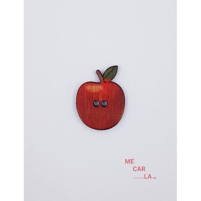 Botón de madera Manzana