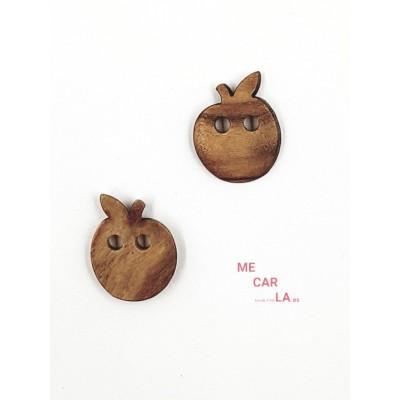 Botón de Madera Fantasía Manzana
