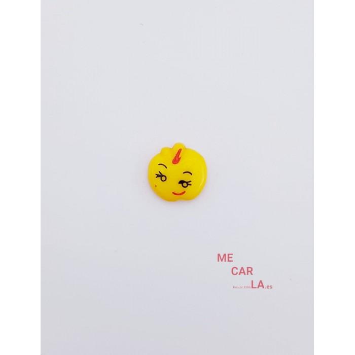 Botón Infantil Fantasía Manzana Amarillo