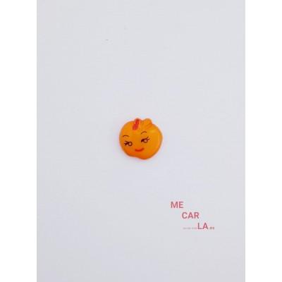 Botón Infantil Fantasía Manzana Naranja