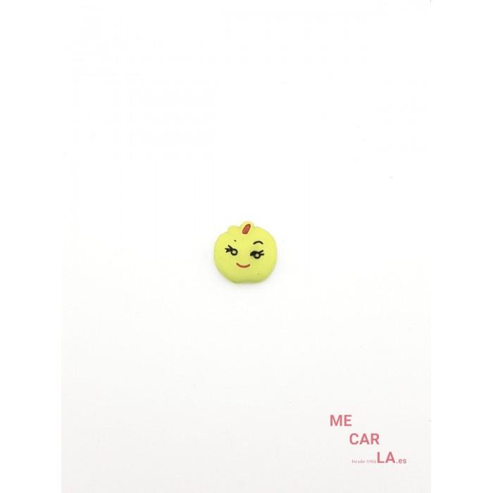 Botón Infantil Fantasía Manzana Verde Pistacho
