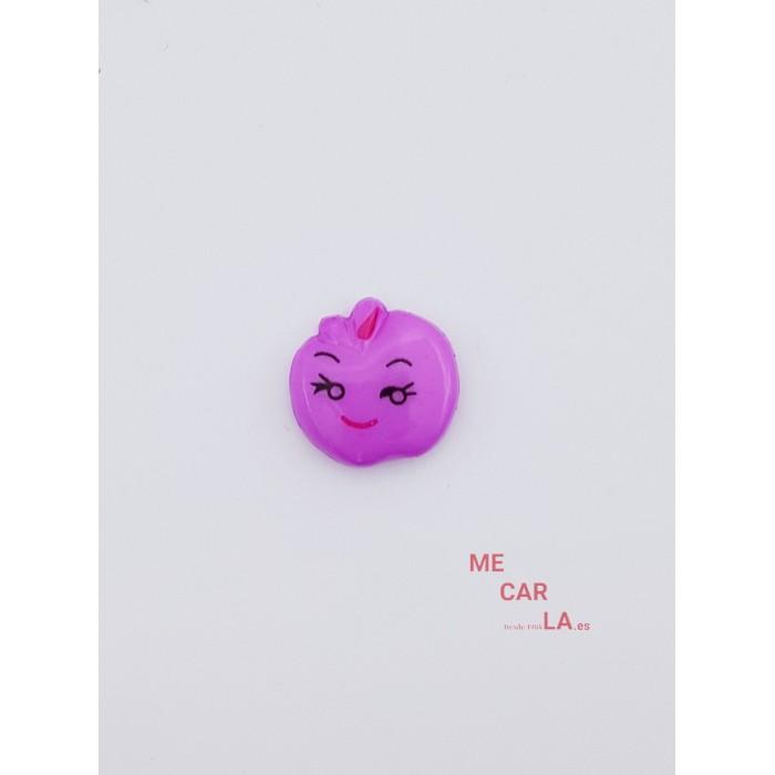 Botón Infantil Fantasía Manzana Malva