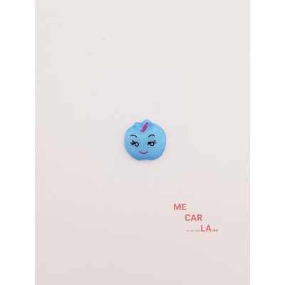 Botón Infantil Fantasía Manzana Azul