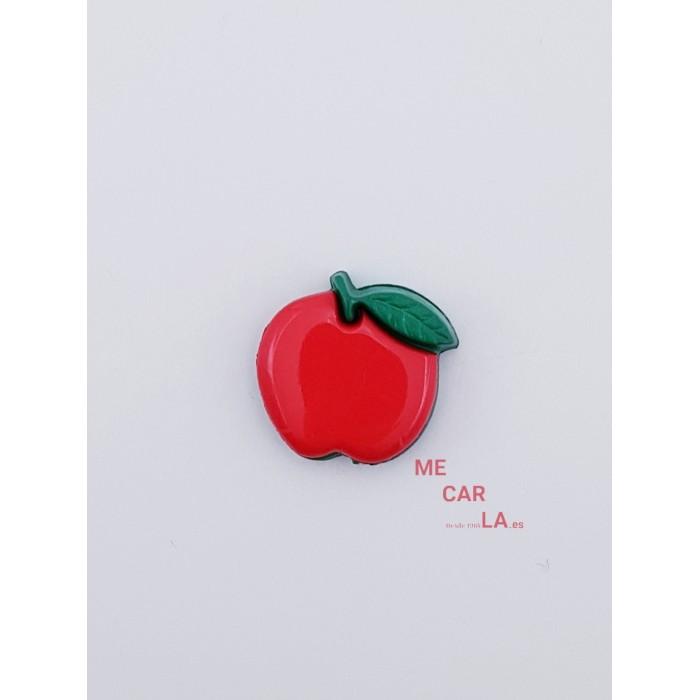 Botón Infantil Fantasía Manzana Roja
