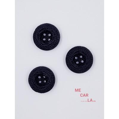 Botón Fantasía Labrado Bombé Negro