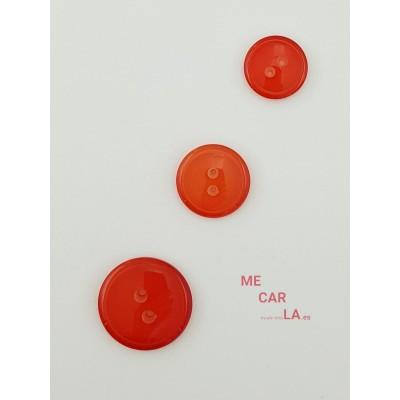 Botón rojo con brillo semitransparente