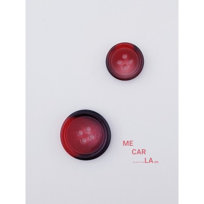 Botón clásico Jaspeado en Granate y Negro