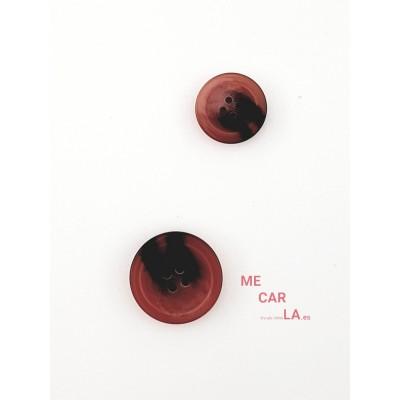 Botón Jaspeado en Rosa palo, Granate y Negro