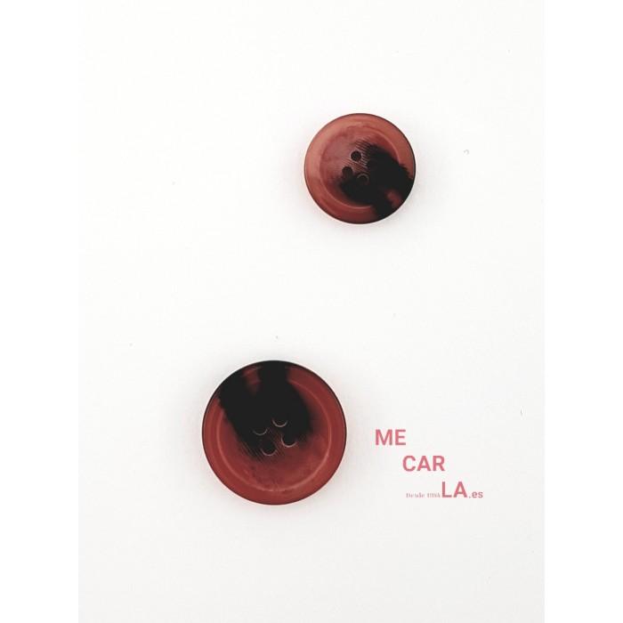 Botón clásico cuatro agujeros Granate