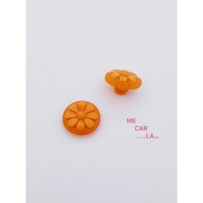 Botón naranja fantasía flor
