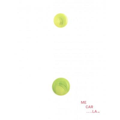 Botón fantasía en verde pistacho