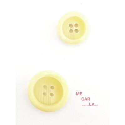 Botón fantasía rayado amarillo claro