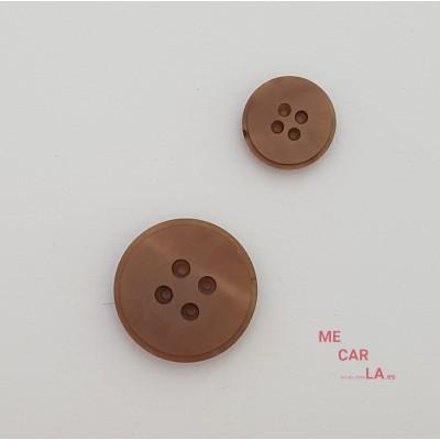 Botón clásico plano Marrón