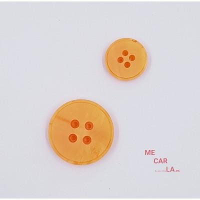 Botón clásico plano Naranja