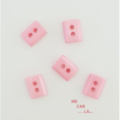 Botón fantasía rectangular rosa