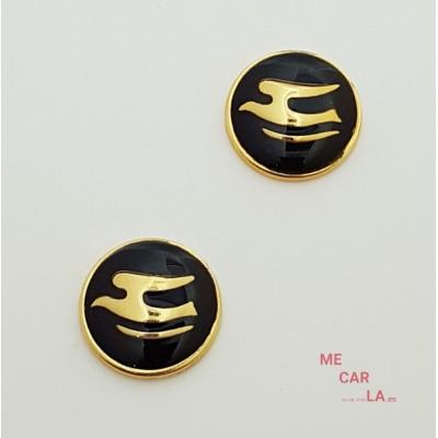 Botón de metal fantasía gaviota dorado y negro