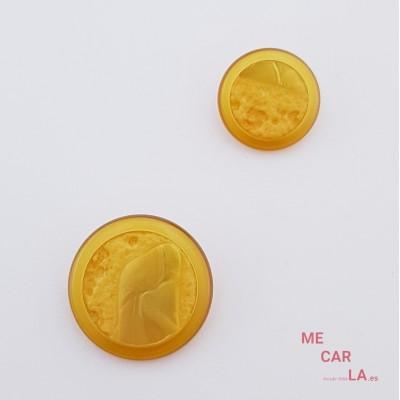 Botón Fantasía Tipo Roca Amarillo