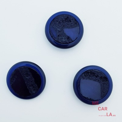 Botón Fantasía Tipo Roca Azul Marino