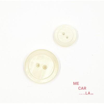 Botón Clásico Tornasolado Blanco Roto