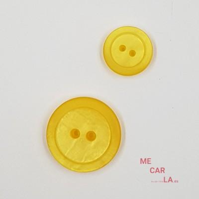 Botón Clásico Tornasolado Amarillo