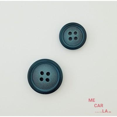 Botón Fantasía Azul Petróleo