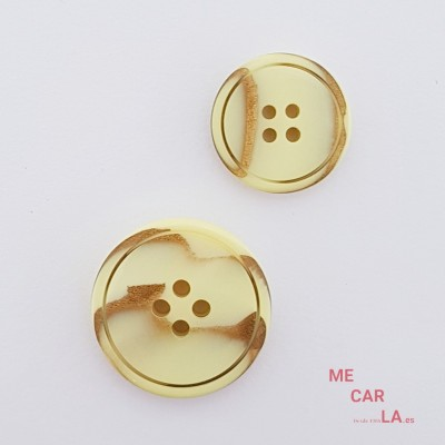Botón plano amarillo fantasía oro viejo