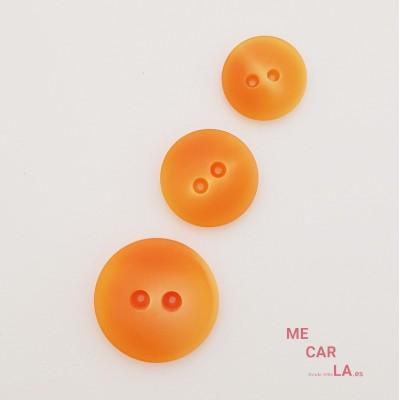 Botón semiplano matizado naranja
