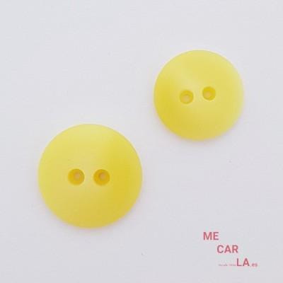 Botón semiplano matizado amarillo
