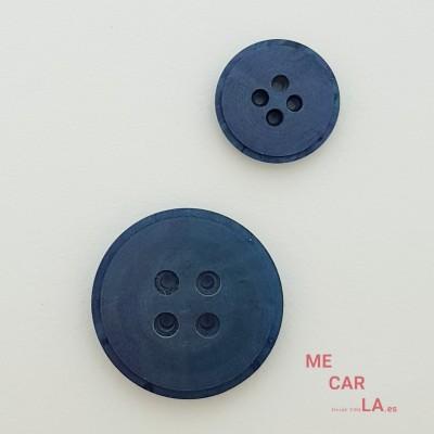 Botón clásico plano azul marino