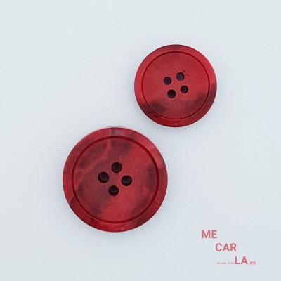 Botón plano matizado rojo mate