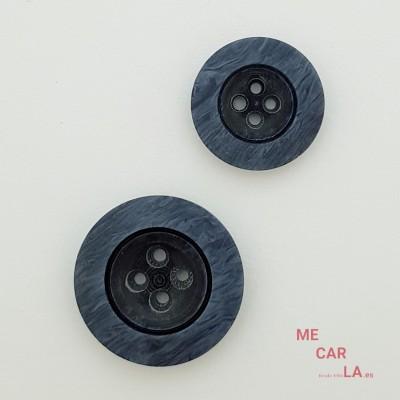 Botón fantasía azul jeans mate