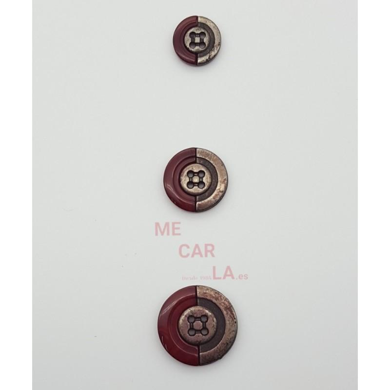 Botón de pasta combinado con metal envejecido