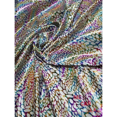Punto elástico estampado multicolor 115 cm