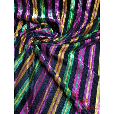 Tela de terciopelo multicolor 145 cm