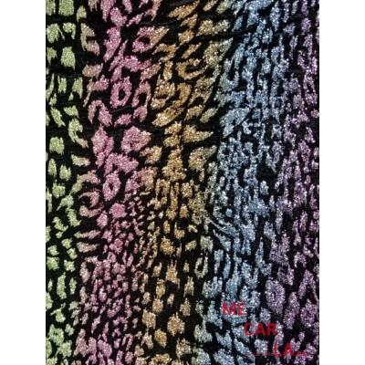 Tela de terciopelo multicolor 115 cm