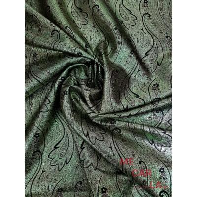 Estampado Adamascado verde y oro 110 cm