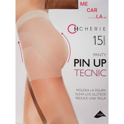 PACK COMBINA 2 PANTYS CHERIE 5510 PIN UP-15 PANTY REDUCTOR CON PUNTERA INVISIBLE