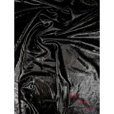 Tela fantasía negro efecto charol 110 cm