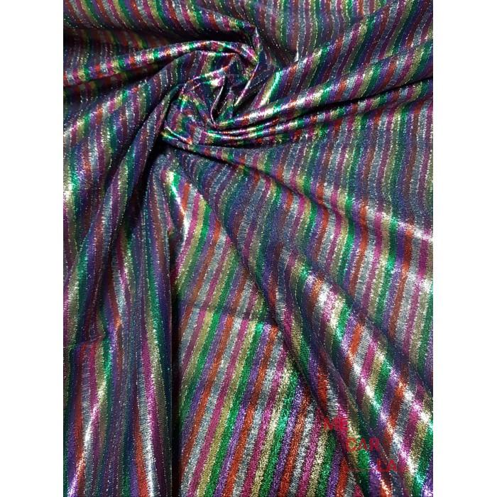 Tela lamé fantasía multicolor 150 cm