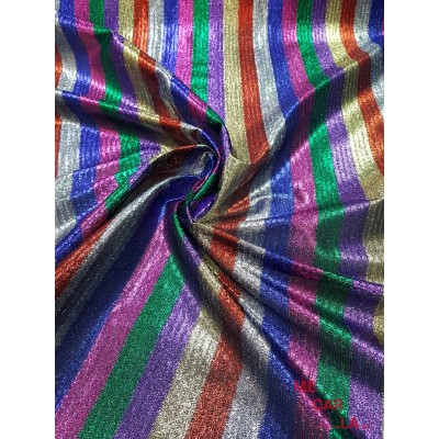 Tela fantasía lamé multicolor 150 cm
