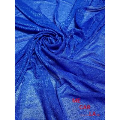 Tela de lamé 150 cm Azul Klein
