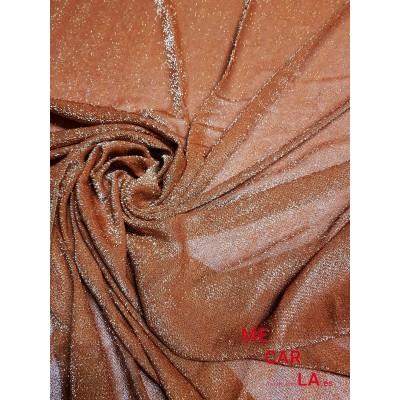 Tela de lamé 150 cm Teja (Cobre)