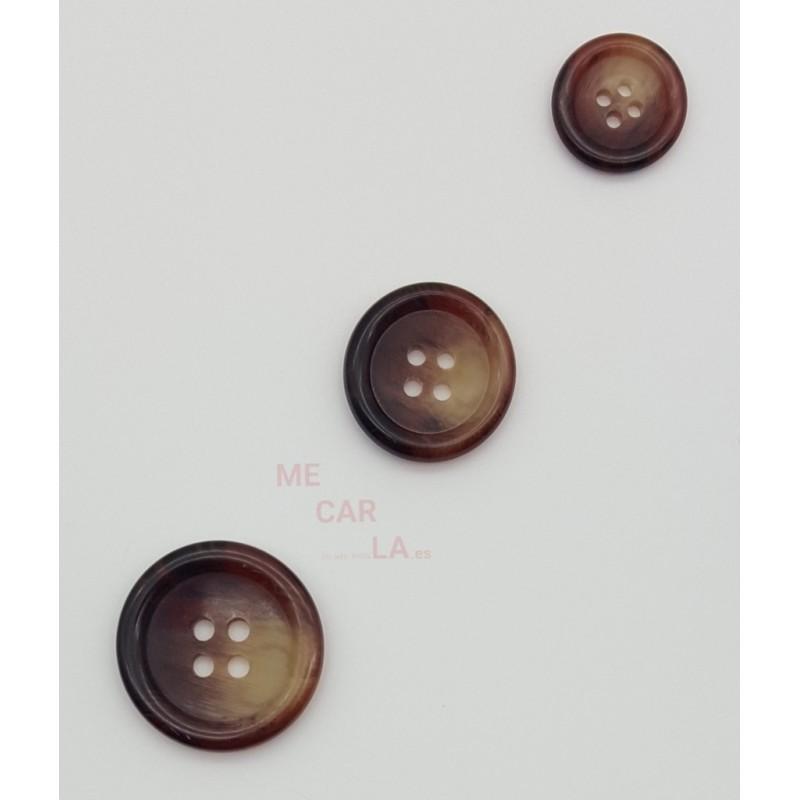 Botón Modelo Clásico Granate Jaspeado